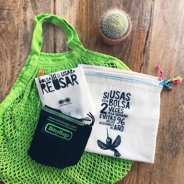 Kit la compra, de bolsas para comprar sin plástico