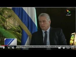 Entrevista de TeleSur al presidente de Cuba, Miguel Díaz-Canel Bermúdez