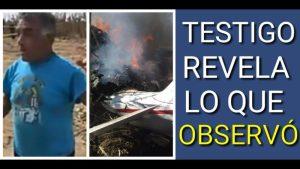 Testigo dice que helicóptero de Moreno Valle ya venía ardiendo antes de caer