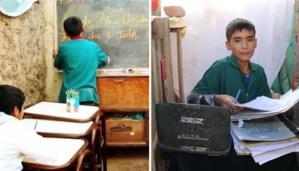 Con 12 años de edad, abrió una escuela en el patio de su casa y da clases a niños necesitados