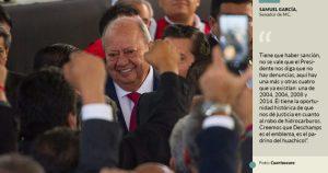 """Senadores denuncian en la Fiscalía General de la República a Romero Deschamps por 11 delitos; """"es el padrino del huachicol"""": Movimiento Ciudadano"""