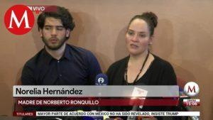 Madre del estudiante asesinado, Norberto Ronquillo: de todos es tarea el combate a criminales