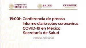 #EnVivo: Reporte diario sobre COVID-19 en México. 30 de mayo