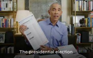 """Video: """"Acabo de votar por correo por Joe Biden y Kamala Harris"""": Obama"""