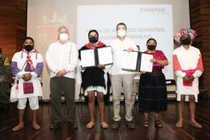 Aldama y Santa Martha, Chiapas, firman convenio que pone fin a conflicto agrario de 45 años