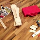 Vorgesägte Holzpaneelen, die ich nach und nach...