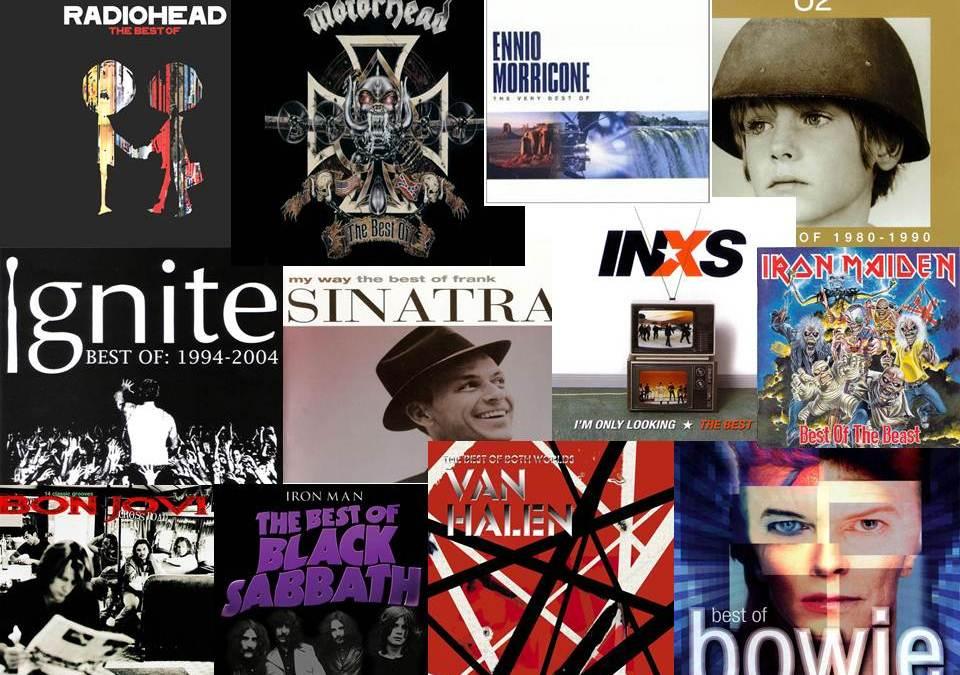 """Álbumes recopilatorios y el clásico """"Best Of""""."""