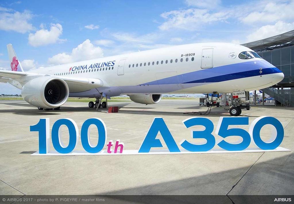 Airbus livre un 100e A350