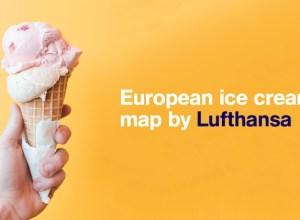 Insolite : Lufthansa propose une carte des meilleures crèmes glacées