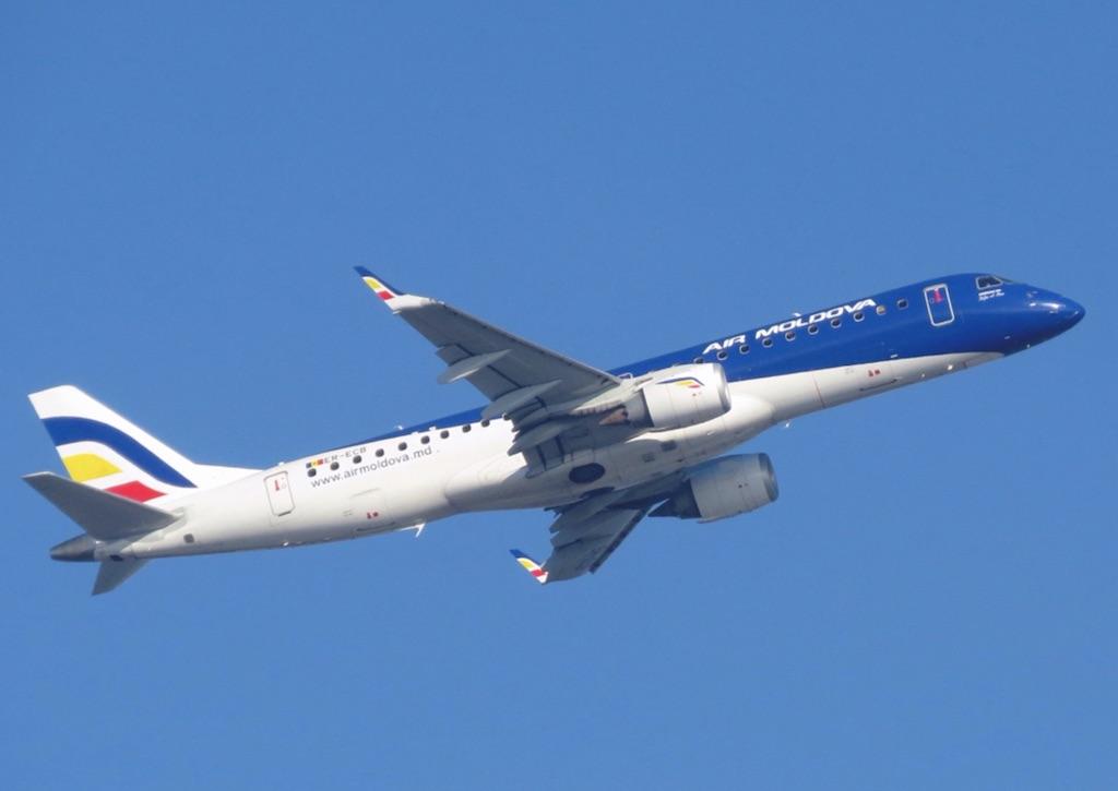 Air Moldova arrive à Genève