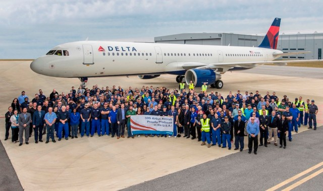 Delta-Air-Lines-receives-50th-Airbus-US-Manufacturing-Facility-A320Family-aircraft