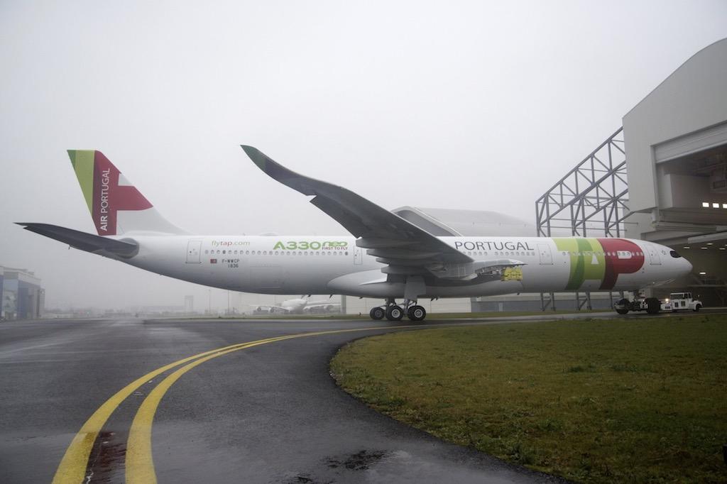Airbus présente le premier A330neo de TAP Air Portugal