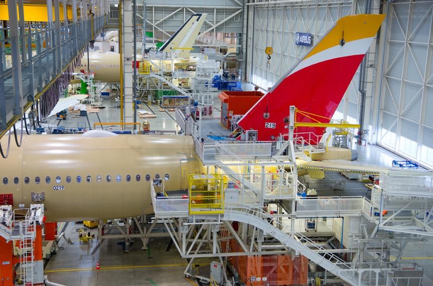 L'A350 d'Iberia prend forme