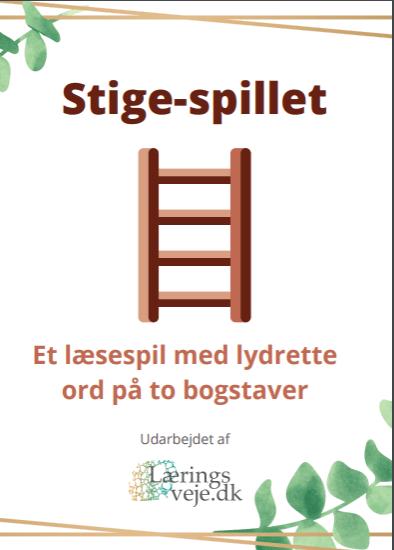 Stigespillet - Et læsespil med lydrette ord på to bogstaver