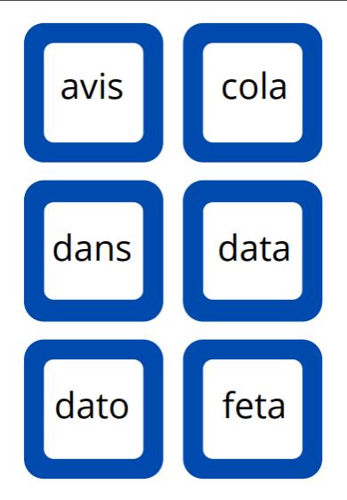 Det Blå Stigespil - Et læsespil med lydrette ord på 4-9 bogstaver