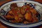 Boniatos asados con Salsa Criolla