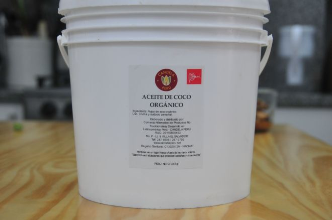 Aceite de coco orgánico de Candela Perú