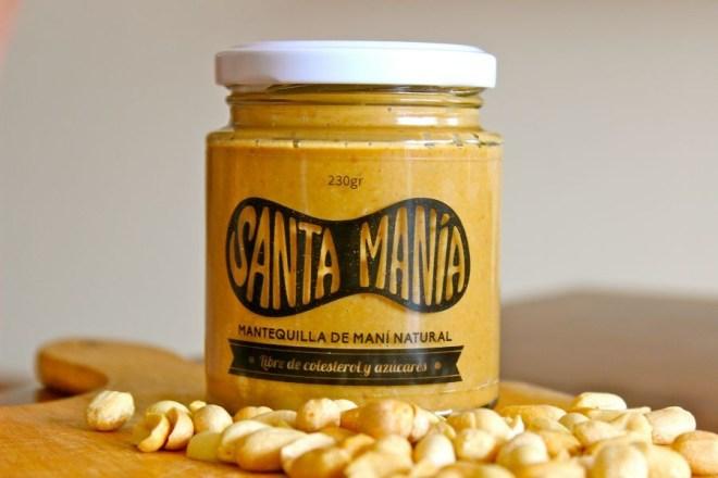 Deliciosa Mantequilla de Maní, 100% natural, de la marca Santa Manía