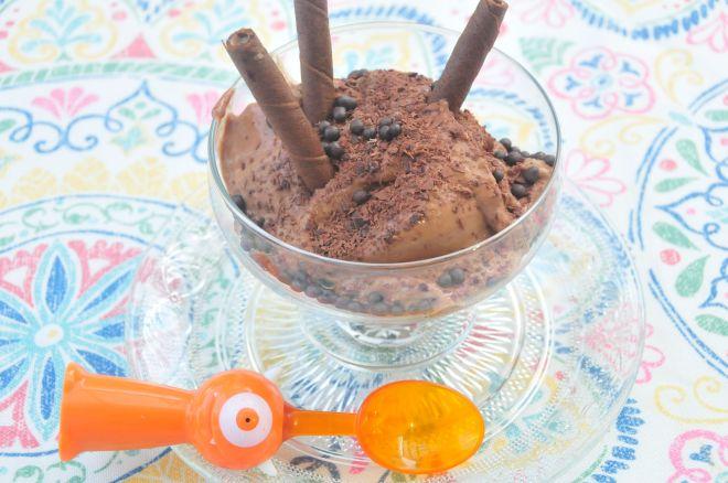 Helado de Chocolate con Mantequilla de Maní