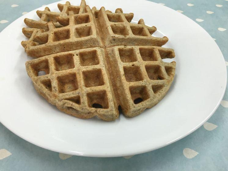 Waffles con harina integral