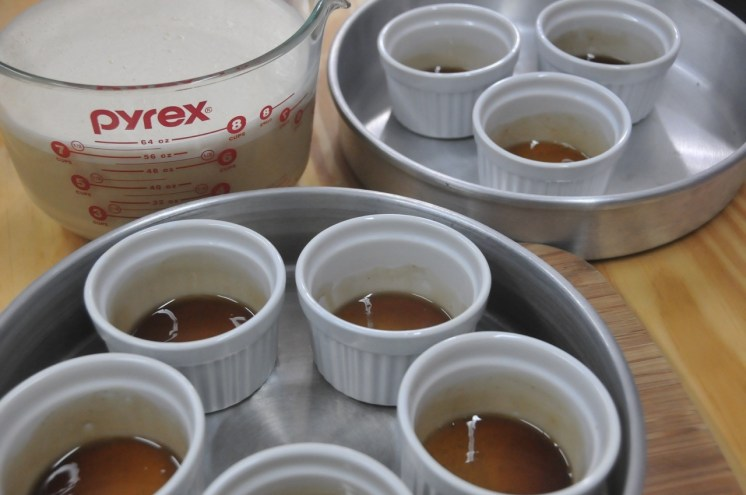 Los molde que usé fueron estos ramekins pero también puedes usar pirex, q también son aptos para el horno
