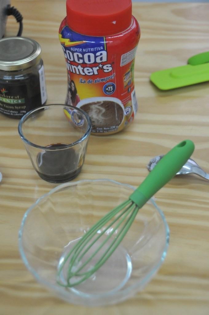 helado de platano y cocoa