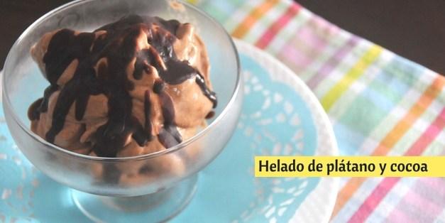 helado de plátano y cocoa