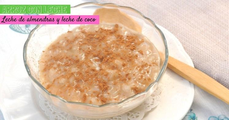Arroz con leche de almendras y leche de coco