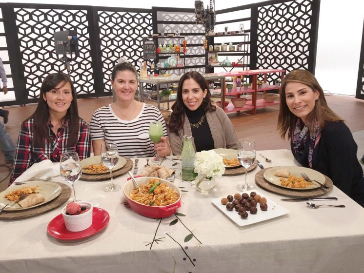 Listas para comer las delicias de Ximena Llosa.
