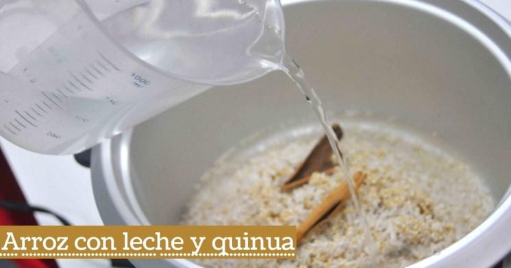 Prepara un nutritivo arroz con leche y quinua