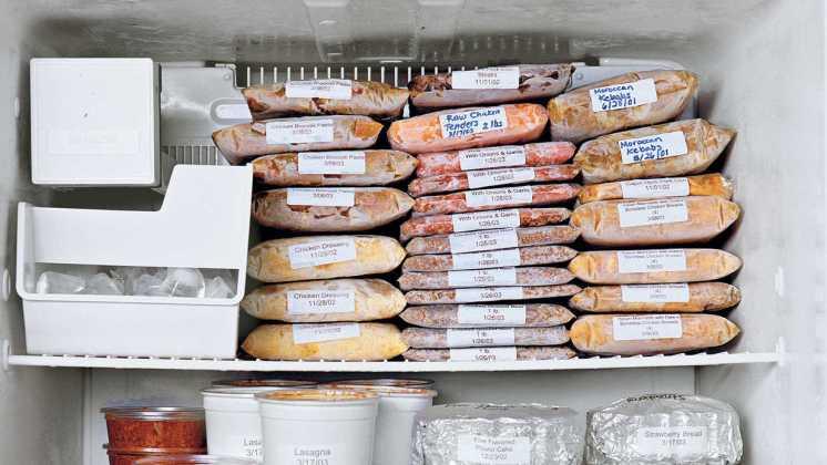 comida congelada casera para un mes