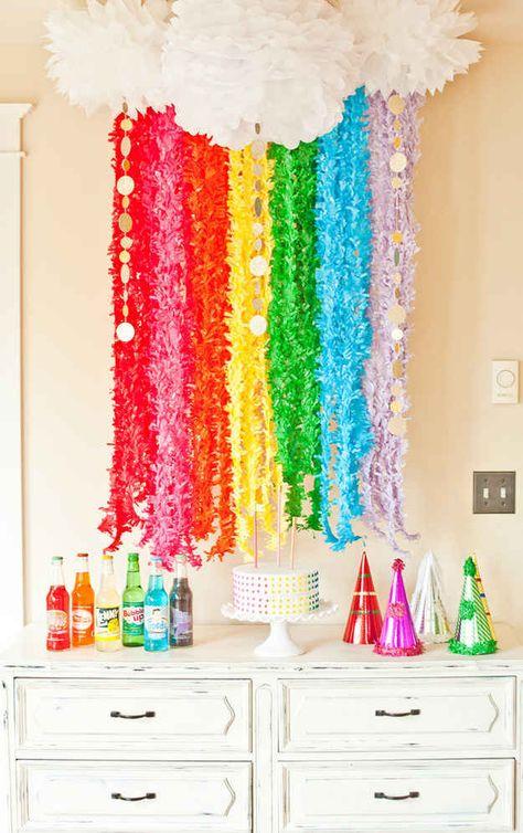 ideas para cumpleaos de unicornios y arco iris