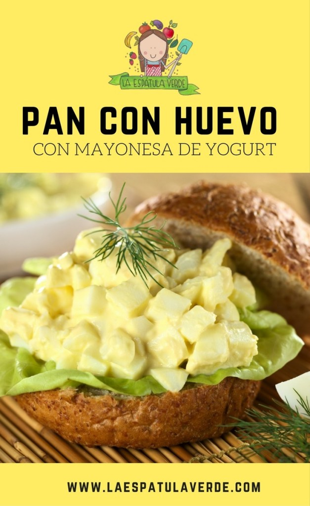 Pan con huevo duro y mayonesa de yogurt