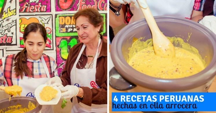 4 recetas peruanas en olla arrocera