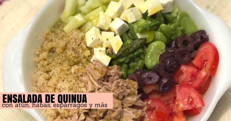 Mi ensalada rápida de quinua con verduras y atún