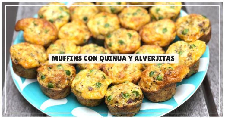 Muffins con quinua y alverjitas súper fácil