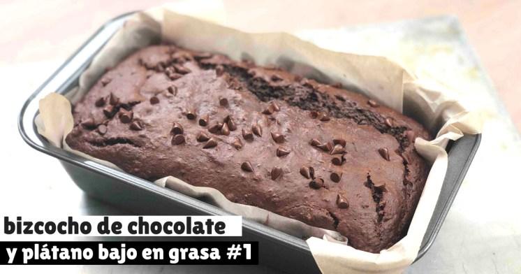Bizcocho de chocolate y plátano #2