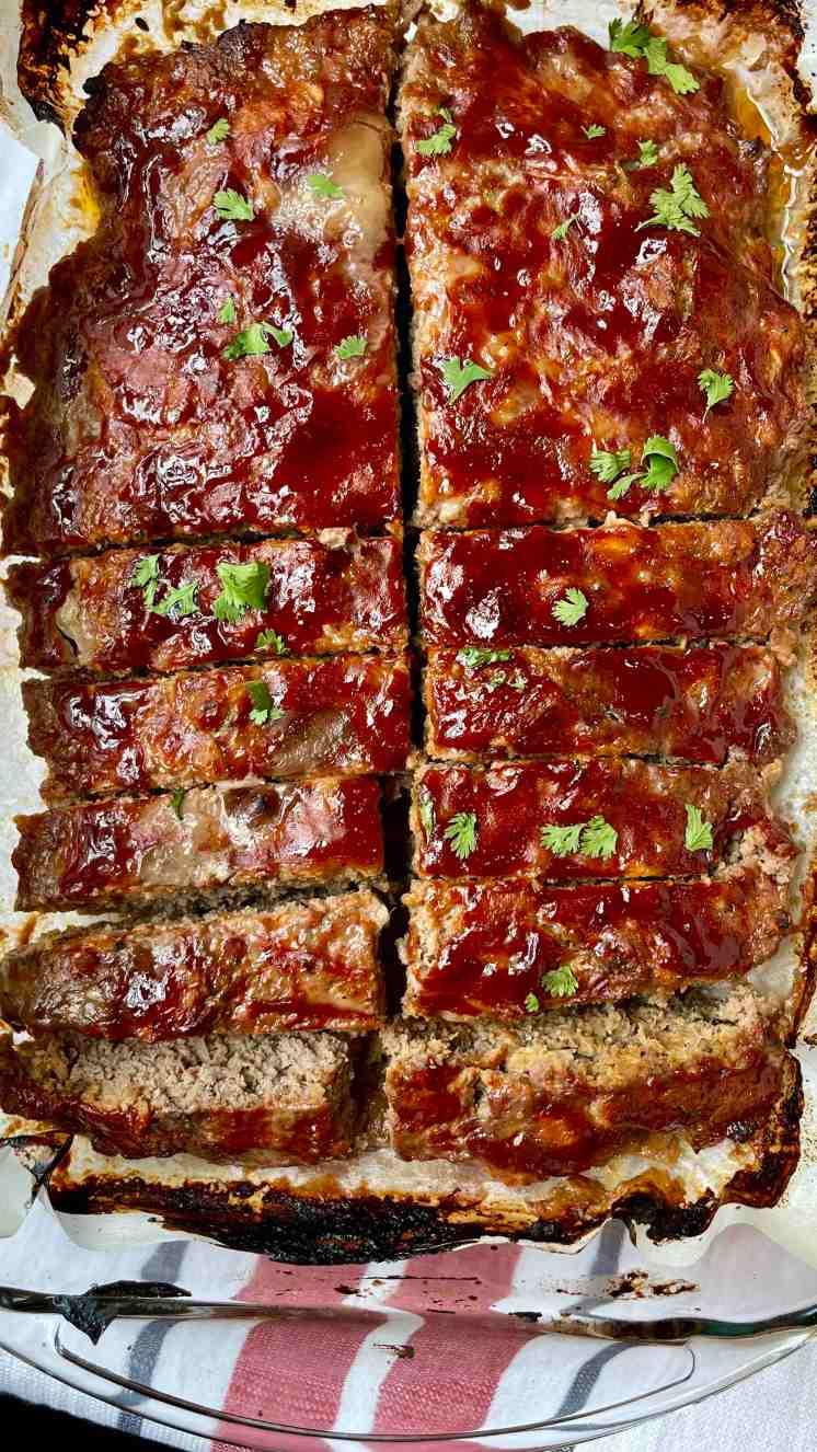 pastel de carne con barbecue