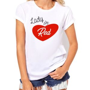 camiseta mujer outfit lady in red pelirroja