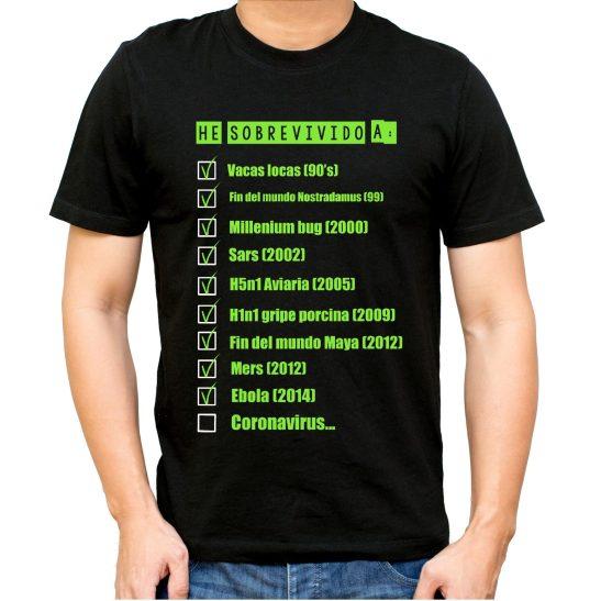 coronavirus supervivientes camiseta humor gripe A gripe aviar gripe porcina nostradamus sars millenial bud mers virus sobrevivir