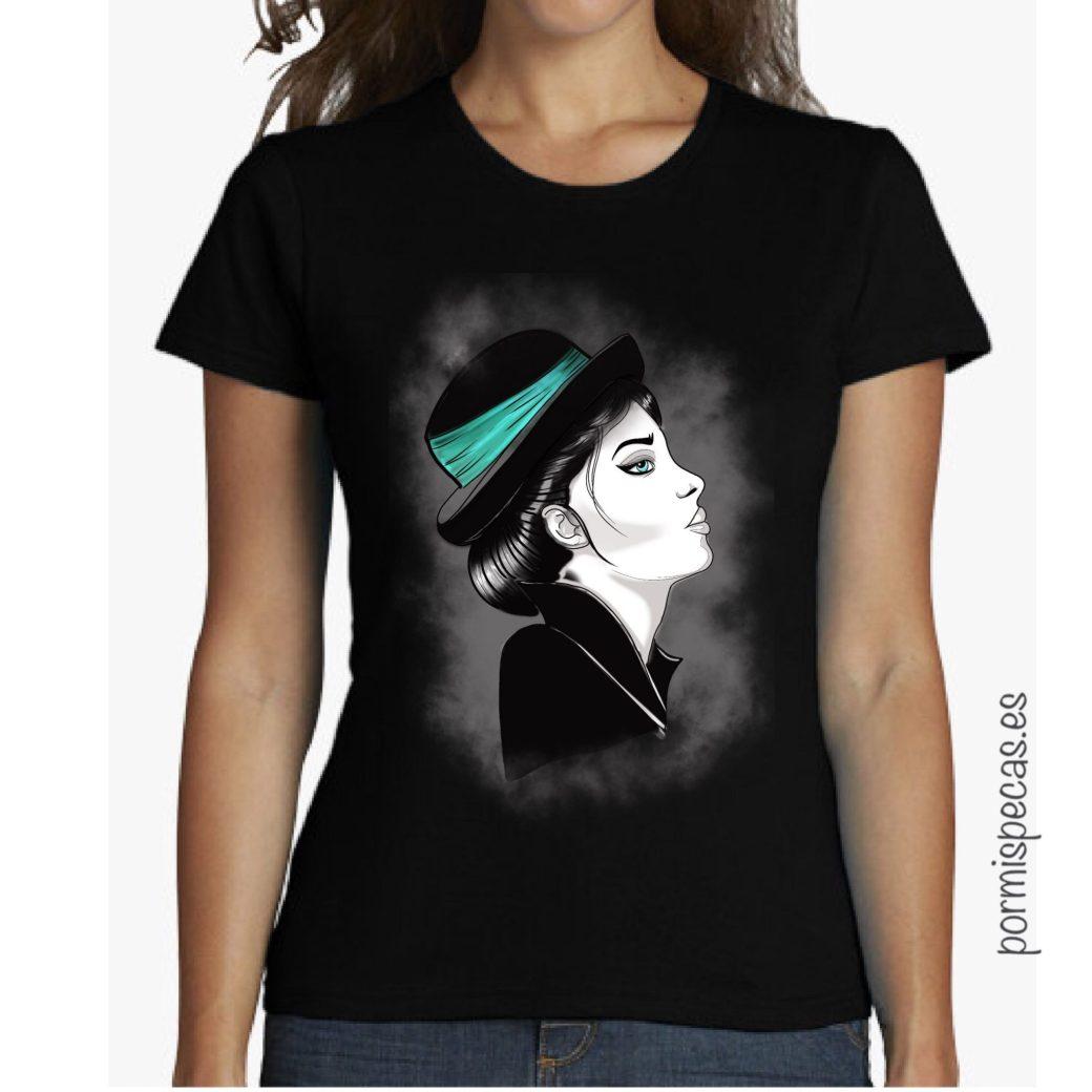 camiseta vintage tattoo neotradi retro algodon azul negro ilustracion crazy blondie old school