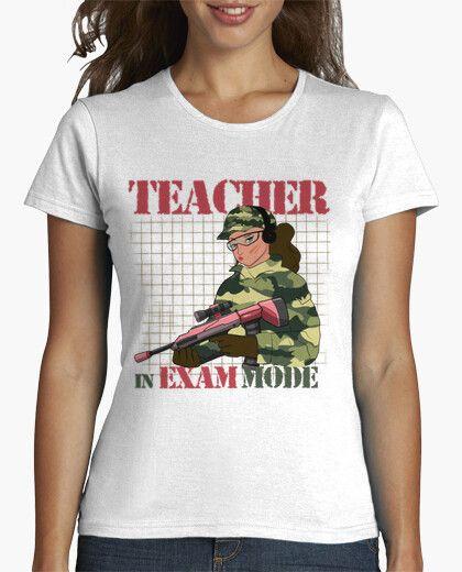 TEACHER in exam mode camiseta profesora chica manga corta tank top camisetas humor camisetas divertidas
