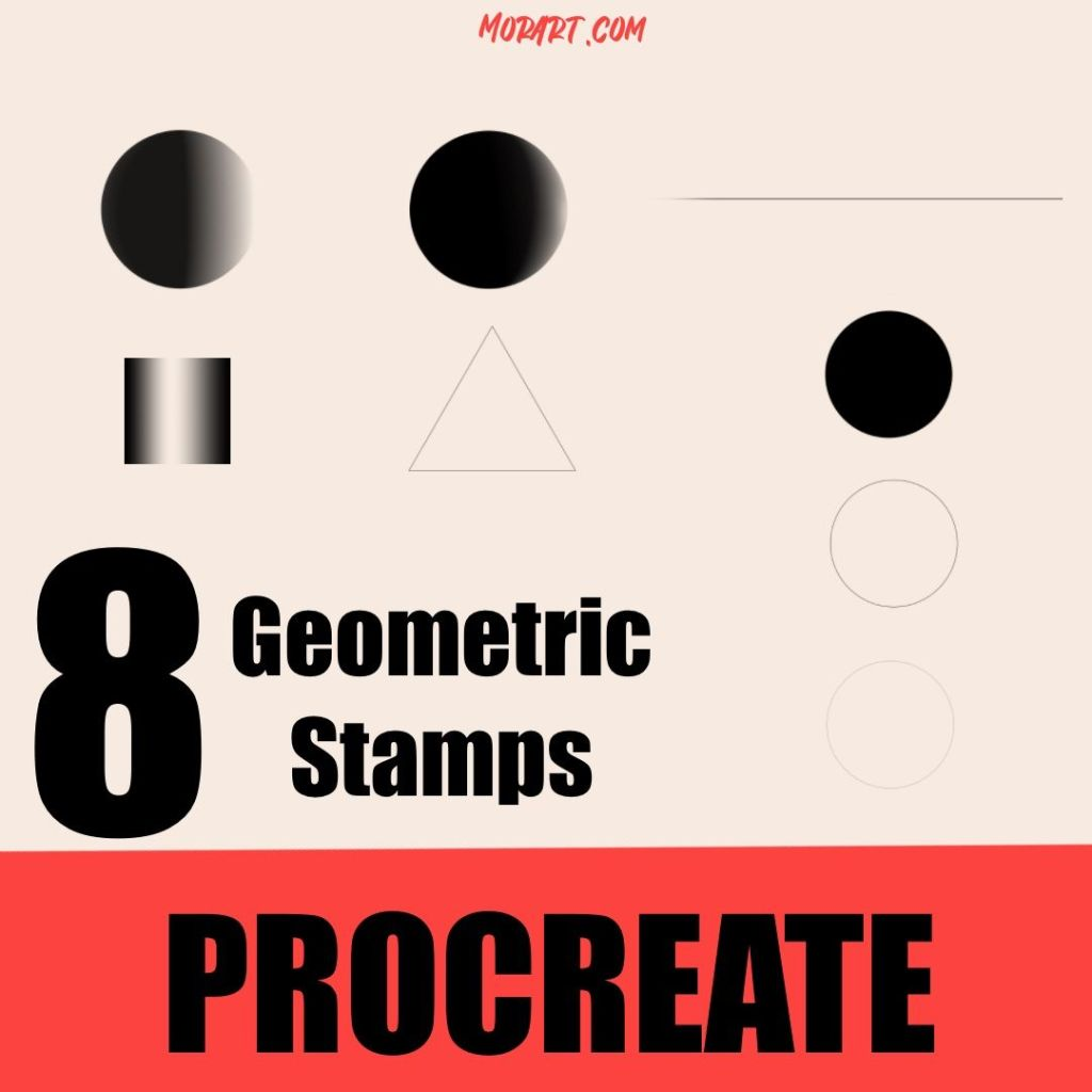 8 pinceles procreate gratis geometricos