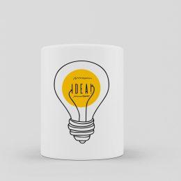 taza geek nerd idea minimalista bombilla