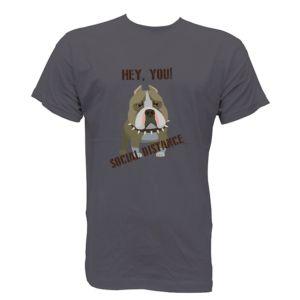 camiseta para chica humor social distancing distancia social virus pitbull