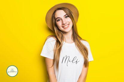 camiseta de mujer milf frases camisetas de algodon blanca ropa de mujer