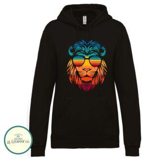 sudadera para hombre lion colores leon con gafas ropa sport