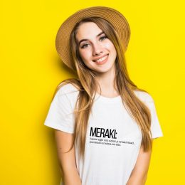 meraki camiseta para mujer con frases bonitas en griego y su significado