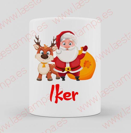 taza personalizada con nombre navidad gatos perros mascotas niños papa noel renos pug muñeco de nieve y muchos mas elige el tuyo y personaliza