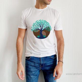 camiseta hombre arbol de la vida manga corta original